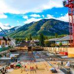 Banff Alberta scenic homestead inn construction Sulphur Mountain